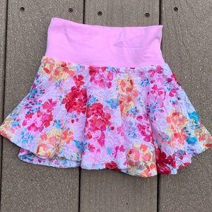 Girl's Pink Flower Mini Skirt 🌸